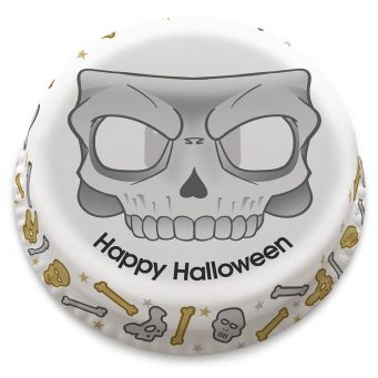 Skull Mask Photo Cake