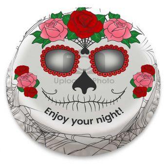 Sugar Skull Photo Cake
