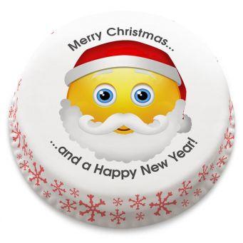 Santa Emoji Cake