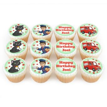 12 Postman Cupcakes