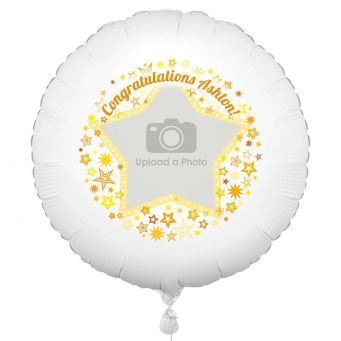 Gold Star Photo Balloon