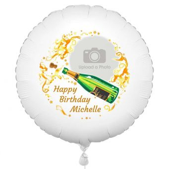 Champagne Photo Balloon