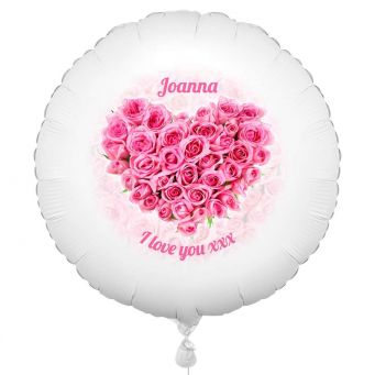 Rose Heart Balloon