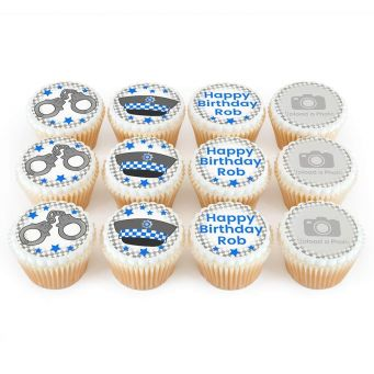 12 Police Photo Cupcakes