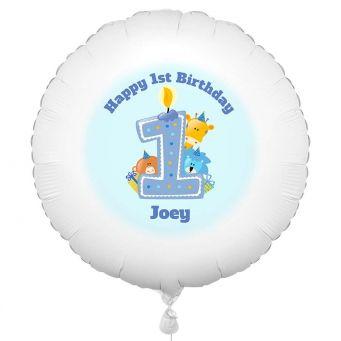 1st Birthday Boy Animal Balloon