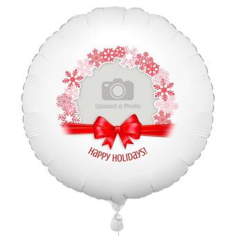 Red Christmas Photo Balloon