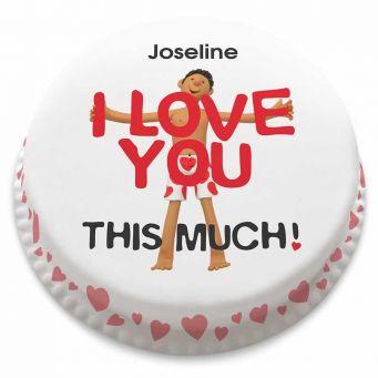 I Love You Man Cake