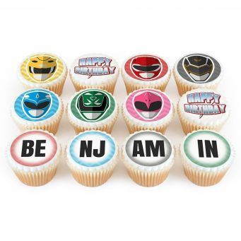 12 Power Mask Cupcakes