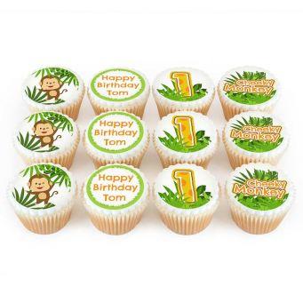 12 Cheeky Monkey Cupcakes