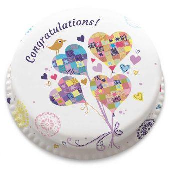Heart Balloons Cake
