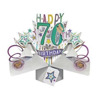 70th Pop Up card