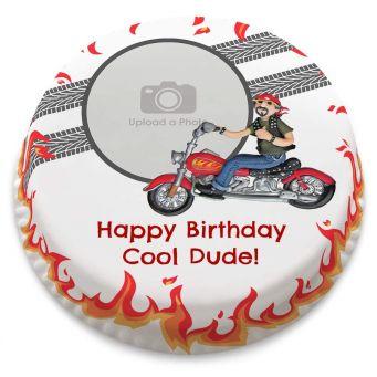 Biker Photo Cake