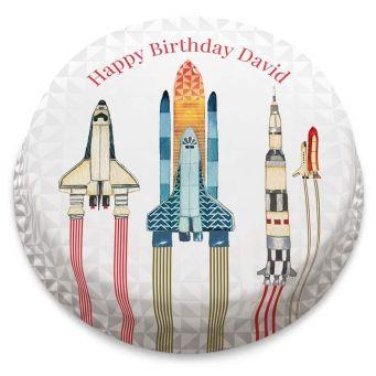 Watercolour Rockets Cake