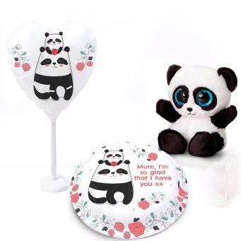 Panda Rose Gift Set
