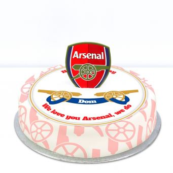 Arsenal Themed Topper Cake