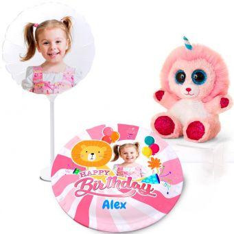 Pink Lion Gift Set