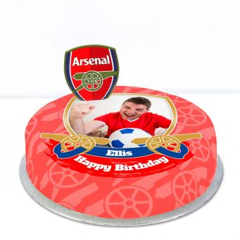 Arsenal Themed Photo Cake