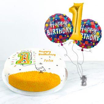 1st Birthday Balloon Gift Set