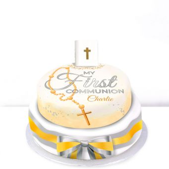 Tiered holy communion cake