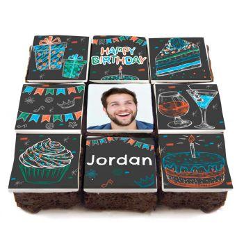 Chalkboard Brownies
