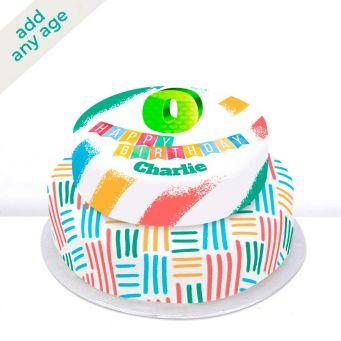 Any Age Rainbow Tiered Cake