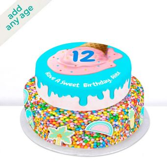 Any Age Starry Tiered Cake