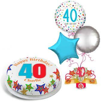 40th Rainbow Dots Gift Set
