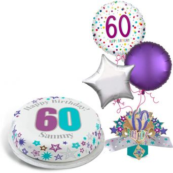 60th Rainbow Dots Gift Set