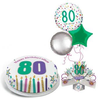 80th Rainbow Dots Gift Set