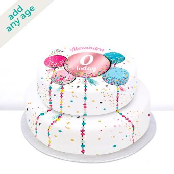Any Age Pink Tired Cake
