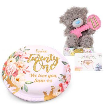 21st Teddy Gift Set