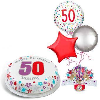 50th Rainbow Dots Gift Set