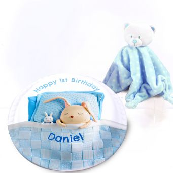 Blue Blanket Gift Set