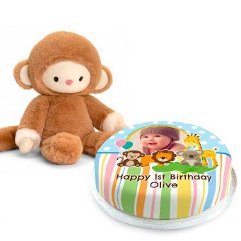 1st Birthday Monkey Gift Set