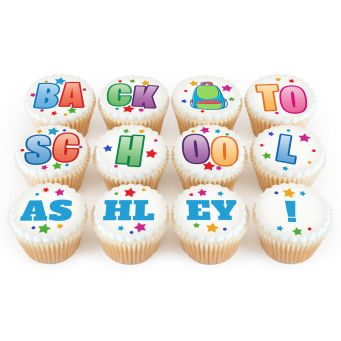 12 Back to School Cupcakes