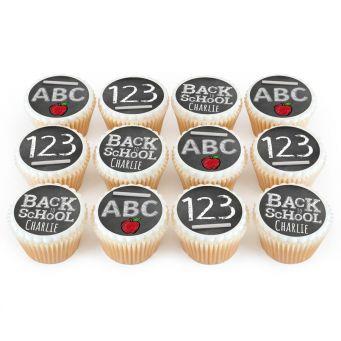 12 School Chalkboard Cupcakes
