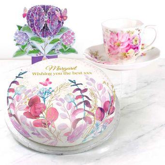 Purple Polka Gift Set