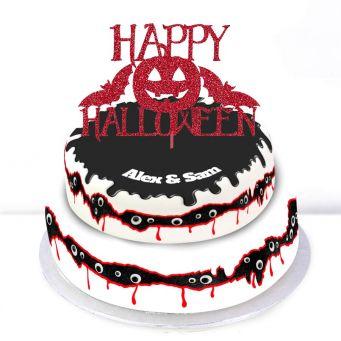 Happy Halloween Tiered Cake