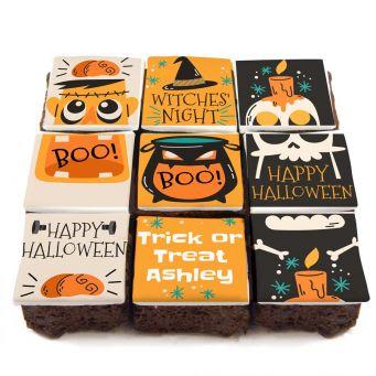 12 Happy Halloween Brownies