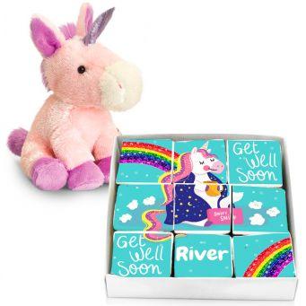 Unicorn Get Well Soon Brownie Gift Set