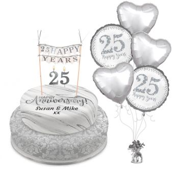 Silver Anniversary Tiered Set
