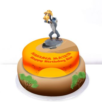 Simba and Rafiki Cake