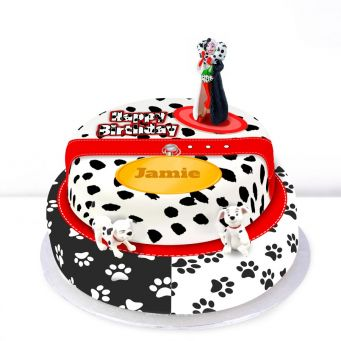 Dalmatian Themed Tiered Cake