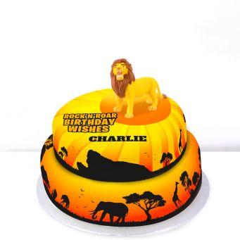 Simba Photo Cake