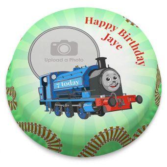 Blue Train Photo Cake