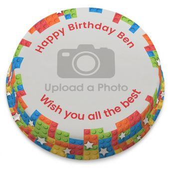 Brick Man Photo Cake