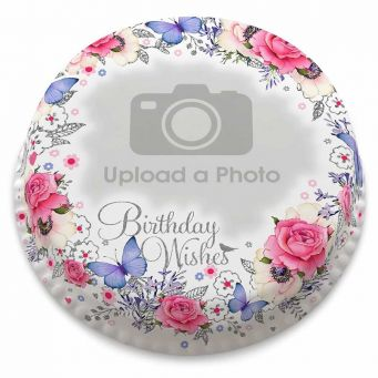 Birthday Wreath Photo Cake