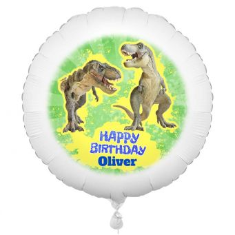 T-rex-ellent Personalised Birthday Balloon