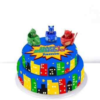 Tiered PJ Masks Cake