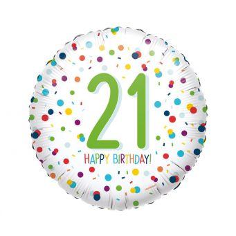 Happy Birthday 21st Balloon